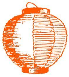 Japanese lantern clipart