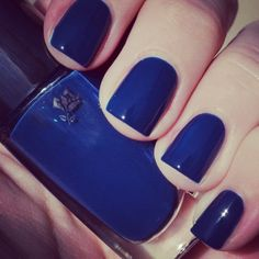 Pretty midnight blue nails by @cheekmeout in Bleu de Flore #lancomelovesnails