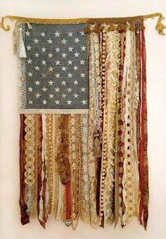 Vintage Ribbon Flag -