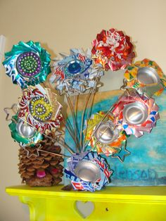 Fun flowers from soda cans