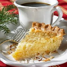 This looks like a cross between pecan pie and coconut pie. Yum. Best pie in the world Butter Coconut Pie!