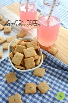 Gluten free white cheddar crackers recipe