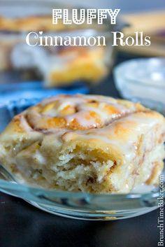 Fluffy Homemade Cinnamon Rolls - Brunch Time Baker