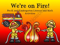 Were on Fire! Pre-K and Kindergarten Literacy and Math Activities from Fun in ECSE on TeachersNotebook.com -  (71 pages)  - Fire themed Pre-K and Kindergarten Literacy and Math Activities