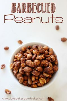 Barbecued Peanuts - So easy to make! Perfect for Super Bowl parties! by lovebakesgoodcakes, via Flickr