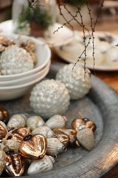 Ornaments with sparkle