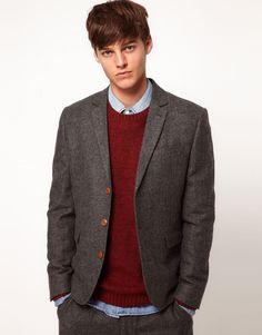 ++ slim fit suit jacket