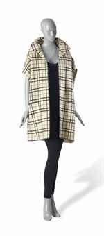 Balenciaga Plaid Cape, 1960s