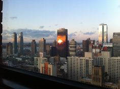 View from 37th floor, New Yorker hotel. November 2011.