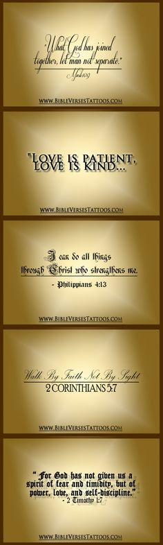 Bible Verses that You Can Use As TATTOO QUOTES! - Love the Idea... Especially If You're Looking for a Perfect Bible Verse for Tattoo...