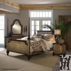 Colonial bedroom on pinterest bedroom suites bedrooms for Plantation style bed