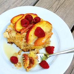 Gluten Free Peach French Toast Bake
