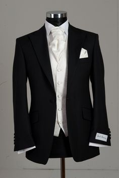 mens black and ivory wedding suit package