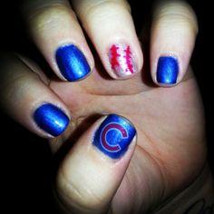 Nails On Pinterest Baseball Nails French Nail Designs