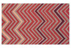 Tribeca Rug, Greige/Salmon i love this rug.