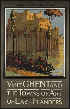 Visit Ghent and the towns of Art of East-Flanders by Boston Public Library, via Flickr