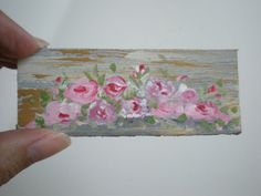 Rose  Painting  Dollhouse 1 Inch Scale by cinderellamoments, $6.00