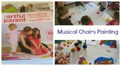 Musical Chairs Painting inspired by The Artful Parent book