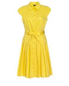 Jaeger Pleated Shirt Dress jaeger.co.uk