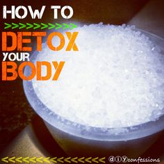DETOX your BODY! Rid your body of daily toxins we intake by taking an epsom salt bath. Recipe included as well as benefits of epsom salt!