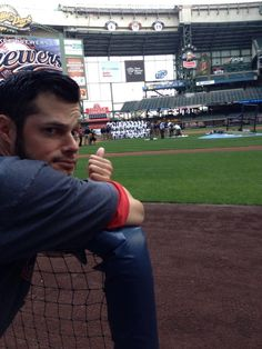 Joe Kelly with the Brewers team picture.