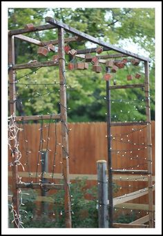 Ladders as a rustic gate