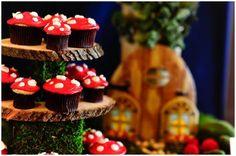 Toadstool cupcakes.