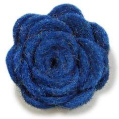 Wool Felted Lapel Flower - Parisian Blue