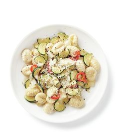 Gnocchi With Zucchini, Red Chilies, and Parmesan recipe parmesan recip, red chili