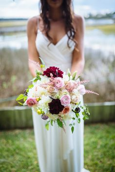 pink, red, and green bouquet | Clay Austin #wedding