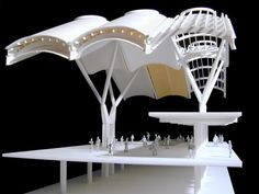 detail model of T4 Terminal, Barajas Airport Madrid. Richard Rogers Arch.