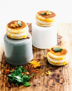 mini grilled cheese cakes - www.iamafoodblog.com #grilledcheese #cheddar #sandwich #recipe