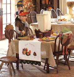 How to set a great kid's table for thanksgiving by Pottery Barn kids