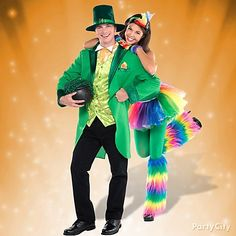 Hit the town as a lucky couple! Dress up as a leprechaun and his colorful rainbow for your St. Patrick's Day parties and pub crawls.
