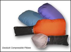I needed a new backpacking pillow so I got a Feathered Friends Geoduck Travel/Camping Pillows