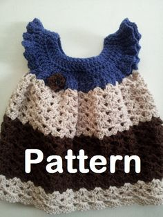 PATTERN  Crochet Dress for Baby Girls  Pinafore by PoochieBaby, $4.50
