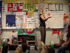 ▶ Mrs Herbics Kindergarten Calendar Time Part 1 - YouTube. Like days of week version and how she goes right into months of year.