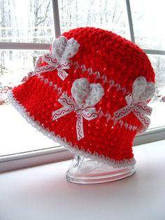 Heart Crochet Hat Pattern...