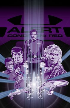 DADMANCULT DOES IT AGAIN - GREAT ART FOR A GREAT MOVIE!  AND THE TRANSPORTER EFFECT IS SUPER COOL!!   Star Trek II  The Wrath of Khan  17 x 11 Digital by DadManCult, $12.99 #startrek #khaaaan
