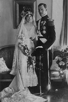Their Royal Highnesses Prince Axel and Princess Margaretha of Denmark. Married: May 22, 1919