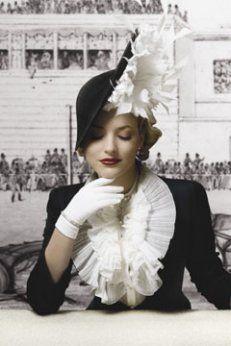 Glam vintage hat.