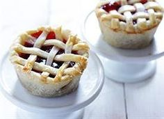 "A fun way to make a ""mini me"" version of your favorite pie! 12 mini pies"