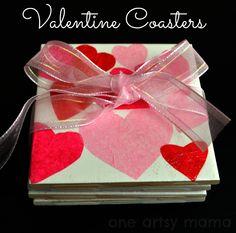 One Artsy Mama: Valentine's Day Heart Coasters