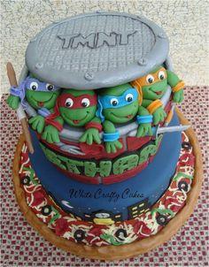 boy cake, tmnt cake, teenag mutant, ninja turtle birthday cakes, groom cake, ninjas, parti idea, turtl cake, mutant ninja turtles cake