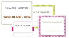 Free bookplate labels with good printing tutorial from Worldlabel.com