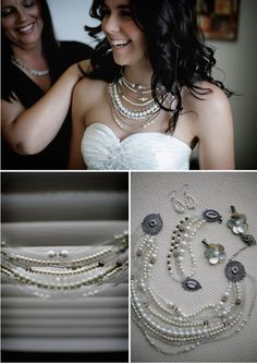 Layered pearl necklace tutorial #DIY #jewels #necklace #pearls #bride #tutorial