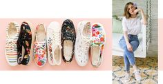 Keds Floral Shoes, Keds x Rifle Paper Co. | Keds