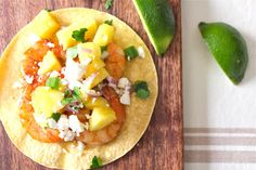 Pina Colada Shrimp Tacos with Pineapple Salsa
