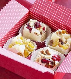 02/23/13,,  Soft Honey Nougat. These festive little candies make tempting Christmas treats to stuff into stockings or share with guests.