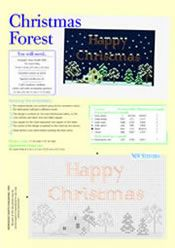 Christmas Forest, designed by Mary Hickmott, originally published in New Stitches, Issue 91 Supplement.
